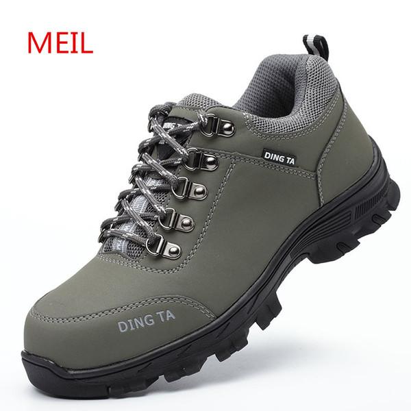 Chaussures Pour Travail Hommes Hommes Chaussures Acheter Bottes En Caoutchouc 2018 Sécurité Mode Randonnée Chaussures Construction Acier Toe De IYEDH92eW