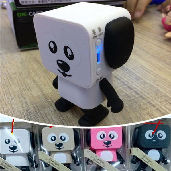 Mini Dancing Dog Bluetooth Speaker USB Charging Dance Dog Robot Loud Speakers Portable Cartoon Animal Subwoofers speakers for iphone x