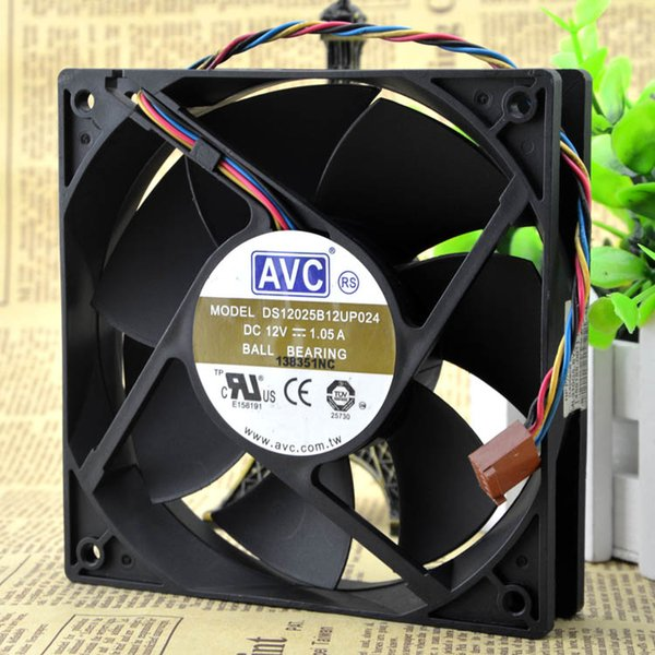 For super large air volume AVC DS12025B12UP024 12V 1.05A 12 cm 4-wire PWM speed control fan
