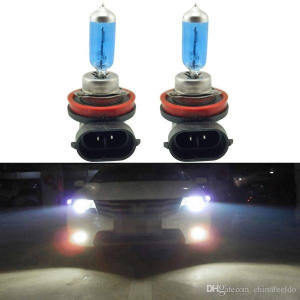 LEEWA 2x White H8 35W Car Fog Lights Halogen Bulb Headlights Lamp Car Light Source Parking Light #2240