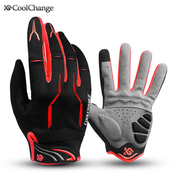 Coolchange 2019 Bike Glove Full Finger Nero Luva Bike Cycling Guanti Uomo Donna Long Mountain Biking Guanti Moto Guanti