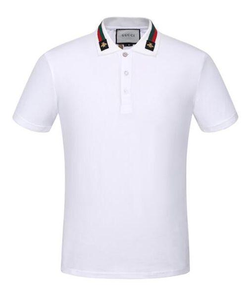 été de designers tag imprimé serpent vêtements hommes lettre tissu polo g col t-shirt femmes occasionnels t-shirt tops 9987