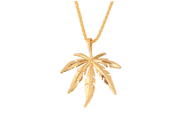 mens necklace hip hop jewelry with iced out chains silver plated Vintage Leaves Pendant necklace Titanium steel jewelry for man wholesale