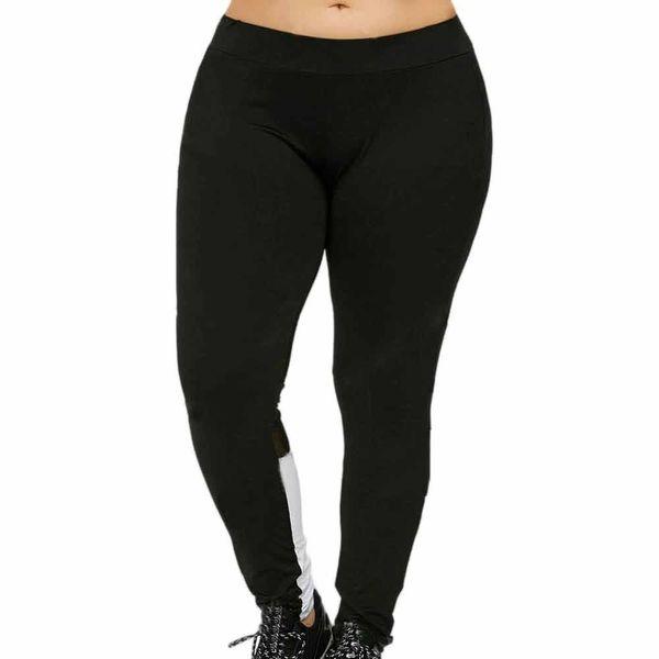 Sportswear for women yoga leggings Trousers for women Athletic leggings Elastic Block Mesh Splicing gym Plus Size