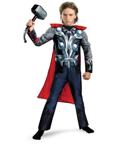Thor Classic Muscle Party Cosplay Costume Halloween carnival Costumes Kids Boys The Avengers Fantasia Fancy dress Superheroes Y1891202