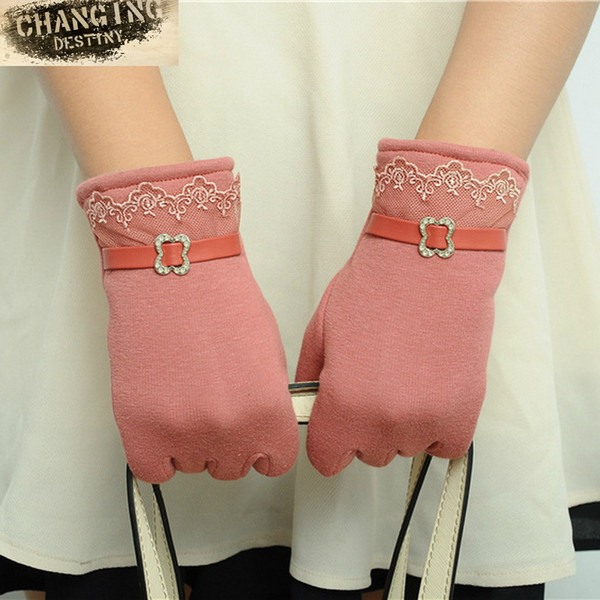 Guanti da donna touch screen da donna di alta qualità per l'inverno in stile guanto da donna bello tenere guanti caldi guanti multi-colore per le femmine