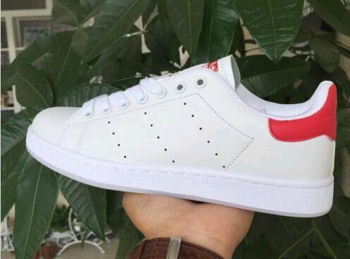 HIZLI nakliye yepyeni stan ayakkabılar moda smith klasik daire spor ayakkabıları koşu gündelik deri erkek bayan spor koşu ayakkabıları sneakers