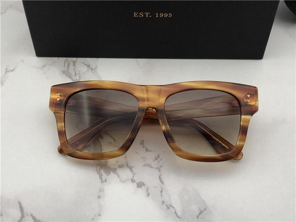Mens Designer Oversized Square Sunglasses Gunmetal Frame gafas de sol Designer Sunglasses vintage glasses New with Box numd180721-7