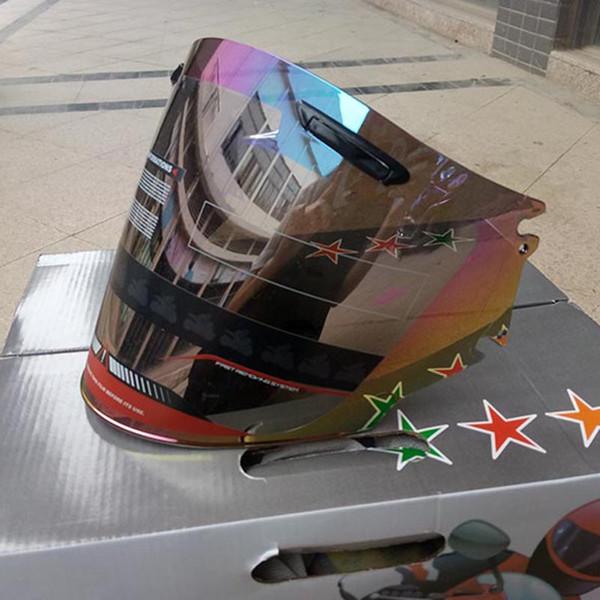 Motocicleta Meia Capacete Viseira Montagem Para Arai Moto Capacetes Lente Transparente Rainbow Rainbow Cor escolher