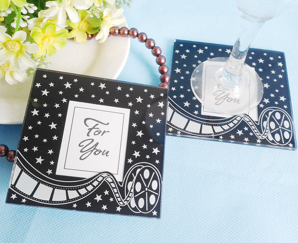 FEIS hotsale romantic For You 2PCS glass coaster tablemat baby shower wedding favor party companyInauguration & Anniversaries gifts