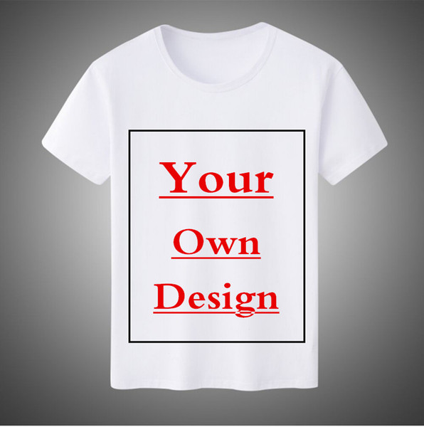 Бесплатный индивидуальный логотип Мужчины / Женщины футболка напечатать свой собственный дизайн высокое качество 100% хлопок