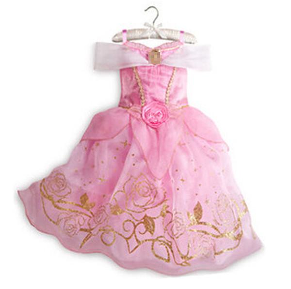 Multicolor cute dress girl dress vintage flower dress purple Cotton princess aurora flare sleeve free shipping