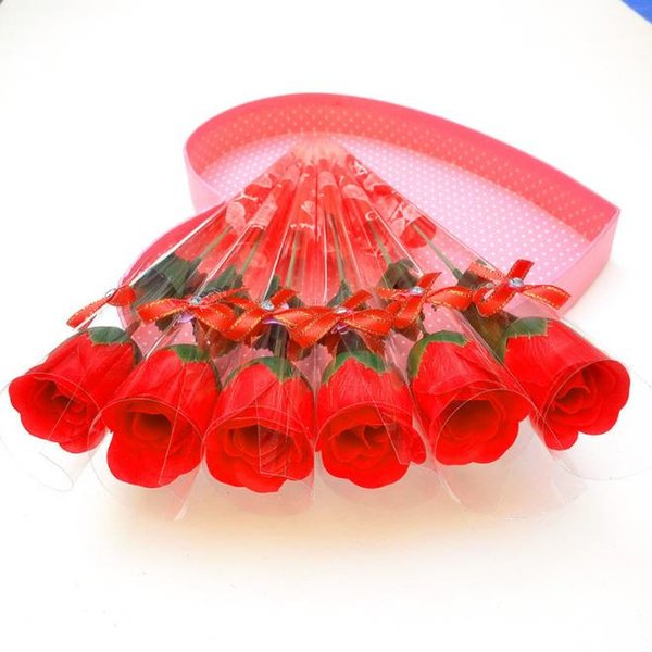 wholesale-- Single rose Soap simulation flowers practical creative soap valentine's day gift soap roses SN1019