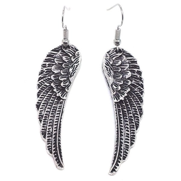 Hot Sale! *PRETTY FEATHER Angel WING * Charm Earrings SP XMAS GIFT Angel Earring silver Fishhook Ear Wire
