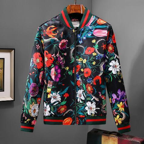 Brand designer 2018 fashion new flower men's jacket stand collar men's jacket....multi-code selection.. high-quality fabric