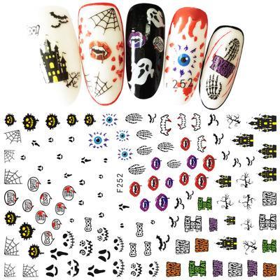 Nu-TATY Cute Halloween Nail Sticker Taro Pumpkin Sticker 3D Tools nail