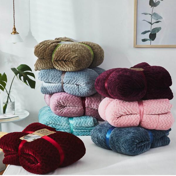 Manta de felpa bereber manta de tela de microfibra para sofá dormitorio Sofá Alfombra Cojín Otoño Invierno suave manta perezosa