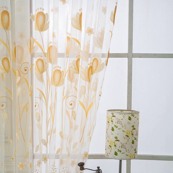 2019 Small Hot Lotus Curtain Balcony Living Room Bedroom Door Window  Curtain Valances Home Decor For Living Room From Starch, $20.19 | DHgate.Com