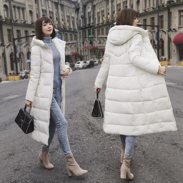 M-6XL Novo Casaco de Inverno Feminino Parka Casaco Feminina Longo Para Baixo Jaqueta Plus Size Longo Com Capuz Pato Para Baixo Casaco mulheres