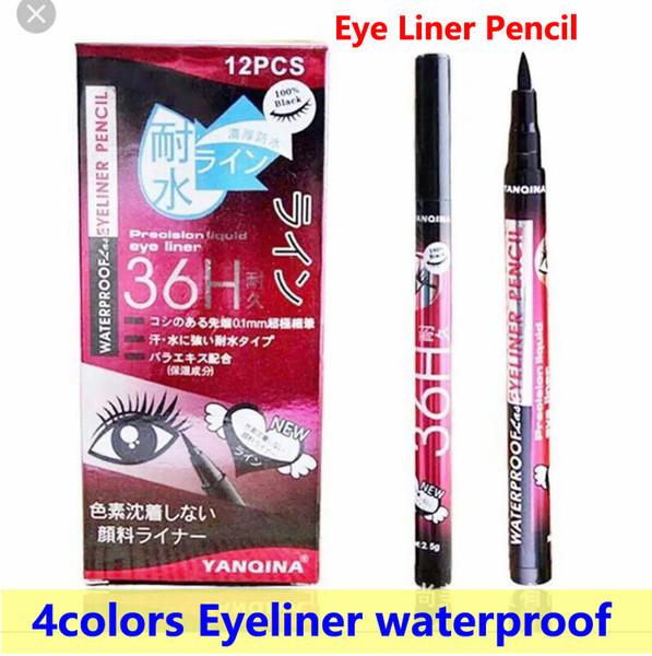 Eye Liner Pencil Eyeliner Pen 36H Eyeliner Pen 4 colors YANQINA Long-lasting waterproof Eye Liner Pencil high-quality DHL free shipping