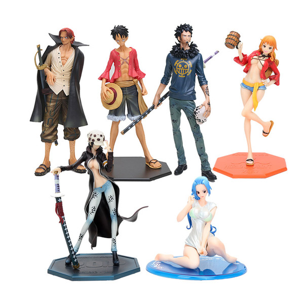 14-25cm Japanese Anime One Piece P.O.P Nami Dressed in Luffy Outfit with Casks Version PVC Figure New in Box