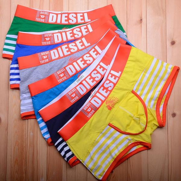 Hommes Coton Boxers De Mode Rayé Lettres Imprimé Sous-Vêtements Mens Casual Sous-Vêtements Haute Qualité Natation Court Pantalon Gratuit DHL 639
