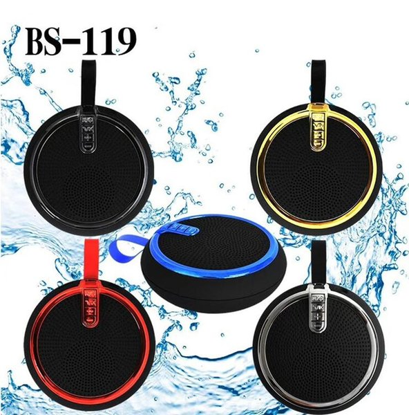 BS-119 portable new round mini smart Bluetooth audio bass Cannon lanyard mini Bluetooth stylish sound 5 colors