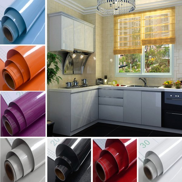 10 Colors Kitchen Refurbished Stickers Self-adhesive Removable Home Decor Wall Sticker Shelf Liner Wallpaper Room Decoration