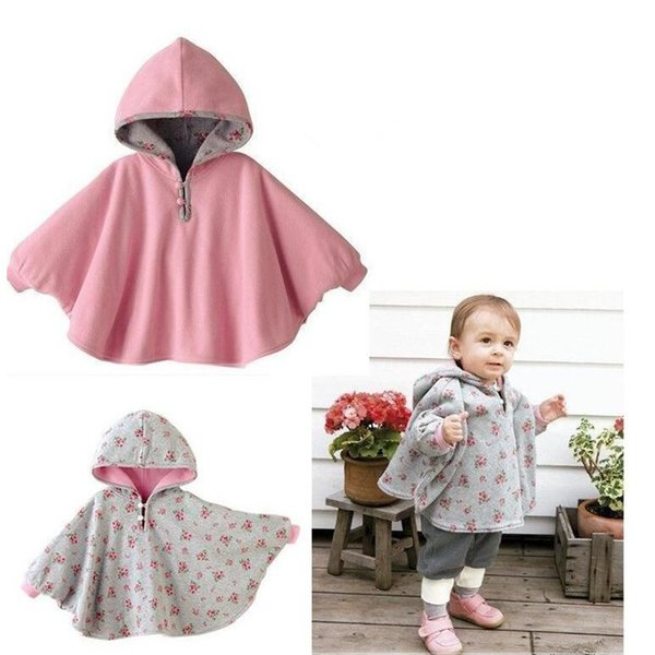 New Fashion Combi Baby Coats boys Girl's Smocks Outwear Fleece cloak Jumpers mantle Children's clothing Poncho Cape