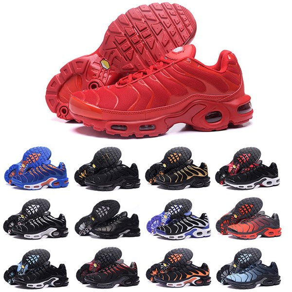 2018 nouvelles chaussures de course hommes femmes TN chaussures tns plus air mode augmentation de la ventilation de luxe formateurs occasionnels rouge bleu noir Sneakers Designer