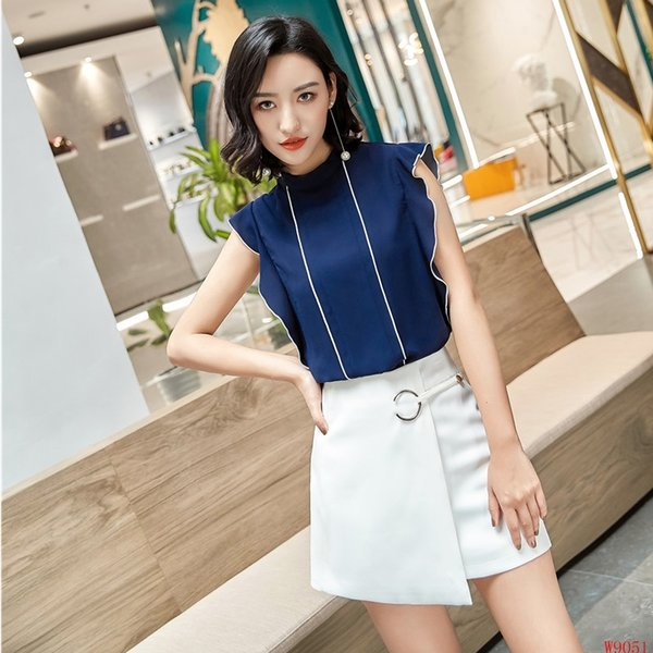 Summer New Styles Forma 2 Piece Set Women Business Suits With Tops And Skirt For Ladies Office Female Clothing Sets Short Sleeve