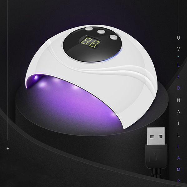 WiRinef Smart Sensor 24w Uv Led Lampe d'affichage Ongles Blancs Séchoir Double Puissance Nail Lampes Pour Gels UV Polonais Nail Outil