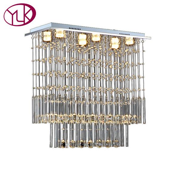Youlaike Moderne Kristall Kronleuchter Esszimmer Rechteck Dekoration Lampen LED Lüster De Cristal Luxus Küche Beleuchtung