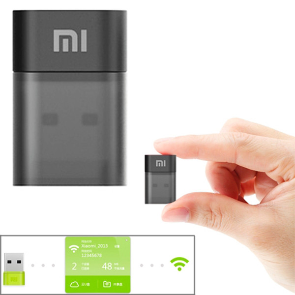 Original Xiaomi Mi 150Mbps Adaptador USB Repeator Wi-Fi con alimentación Mini portátil WiFi Wireless Router para Home Office Hotel