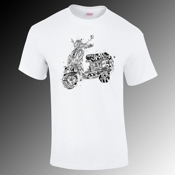 Vespa Érase una vez el diseño, Lambtetta, MOD camiseta, regalo divertido de la vespa S-XXL Divertido envío camiseta unisex