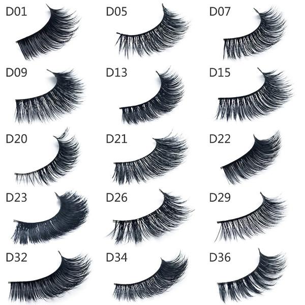 Top qualité 3D Mink Cils Épais Cheveux De Vison Faux Cils Naturel pour Beauté Maquillage Extension Faux Cils Faux Cils 15 Styles