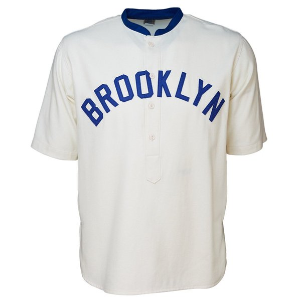 Brooklyn Tip-Tops 1914 Home Baseball Jersey Doulble Stiched Logos & Name & Number Customizable For Men Women Youth