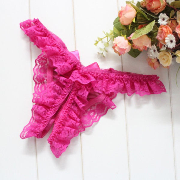 Las mujeres atractivas de la entrepierna de la abertura de las bragas de la señora de la flor del cordón femenino escritos eróticos tangas tanga ropa interior atractiva de la ropa interior