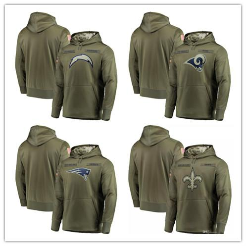 super popular 1a09f 261ad 2019 2018 Men Sweatshirt Los Angeles Chargers Olive Los Angeles Rams Salute  To Service New Orleans Saints Pullover Hoodies From Buckeyes2017, $31.48 |  ...