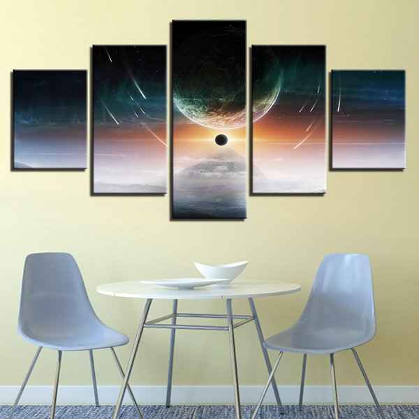 Pictures Wall Art 5 Pieces Planets Scenery Printing Abstract Canvas Paintings Modular Universe Space Poster Home Decor Framework