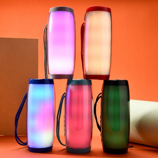 Colorful LED Light Speaker Bluetooth Wireless Subwoofer Stereo Hifi Speakers FM Raido Multicolor Lamp Loudspeaker for Computer Tablet PC