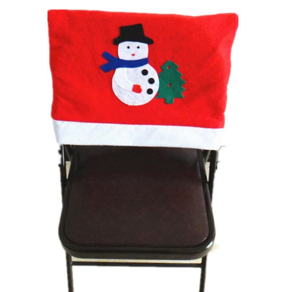 Cheap Mr Santa Claus Christmas Hat Chair Covers Houseware Xmas Christmas Decorations For Home Table Dinner Chair Decor Covers
