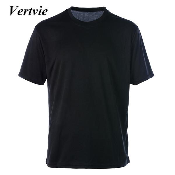 Vertvie Running Sets Fitness Short Sleeve Men Top + Knee Man Quick Dry Elastic Waist Male Fitness Suit Gym Sports 2018 Mew