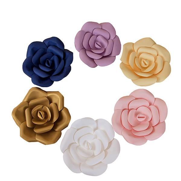 Création 3 Pcs Papier Fleurs Artificielle Rose Fleurs De Mariage Décoration DIY Artisanat Bébé Douche Fête D'anniversaire Décorations À La Maison HH7-1082