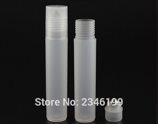 12ML Plastic Roll on Bottle with Glass Ball Steel Bead Essential Oil Scent Bottle Cosmetic Perfume Packing Bottle,50 Pieces/Lot