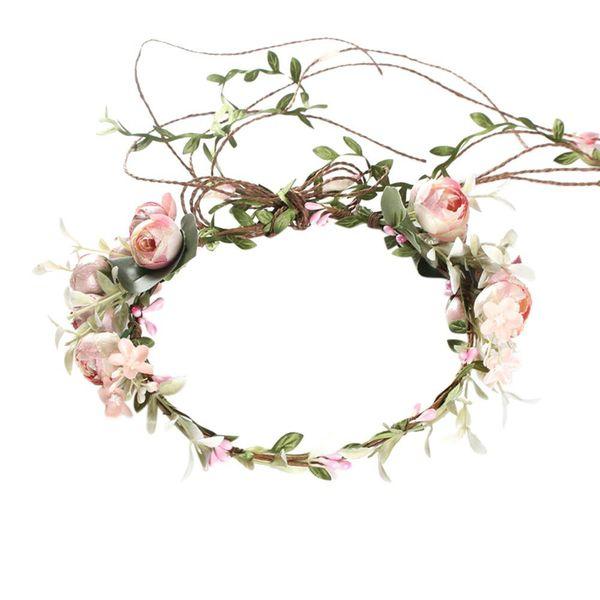 MISSKY женщины стильный цветок Hairband венок Корона для партии невеста Свадьба пляж украшение подарок