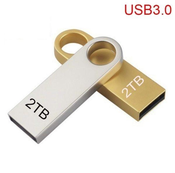 nuevo Office USB 3.0 Flash Drives Metal USB Flash Drives 2TB Pen Drive Pendrive Memoria Flash USB Stick U Disco de almacenamiento