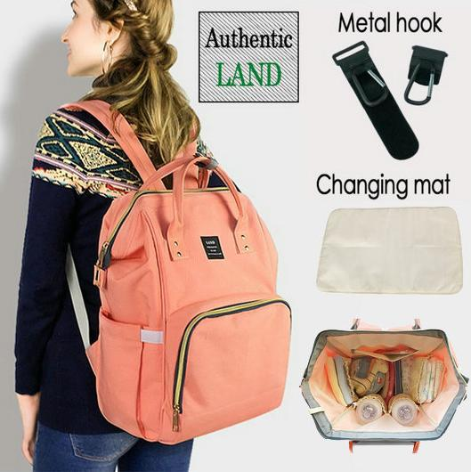 2018 Land 22 colors Mommy Backpacks Nappies Bags Mother Maternity Diaper Backpack Large Volume Outdoor Travel Bags Organizer 10pcs