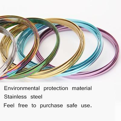Colorful Metal Toroflux Flow Ring Rainbow Flow Rings Magic Bracelets Flowrings Holographic by While Moving Decompression Toys CCA9357 50pcs