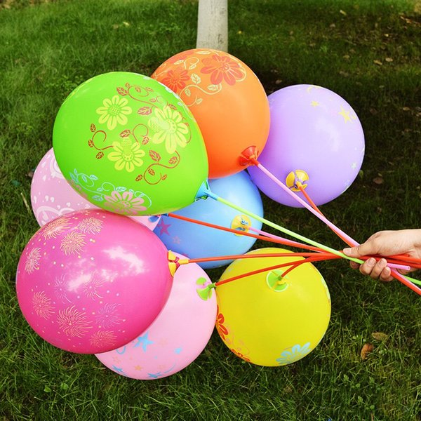 New Thickness 100pcs/lot 12inch Birthday Party Decoration Ballons Latex Round helium Balloon happy birthday printed Flower Supply
